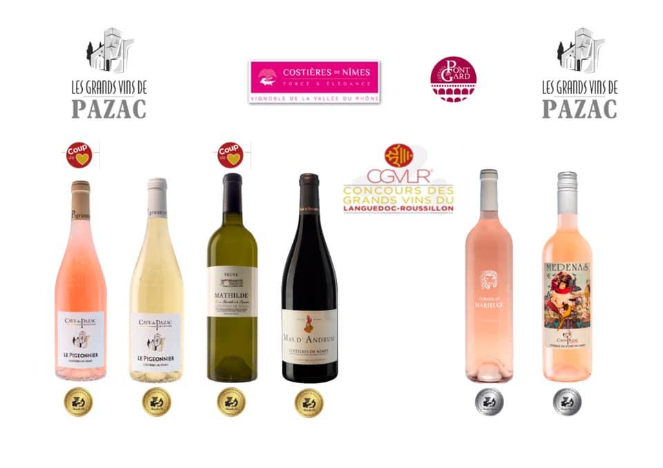 palmares concours grands vins languedoc roussillon 2020