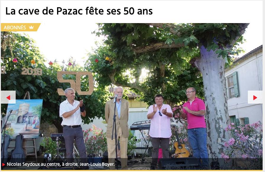 50 ans de Pazac