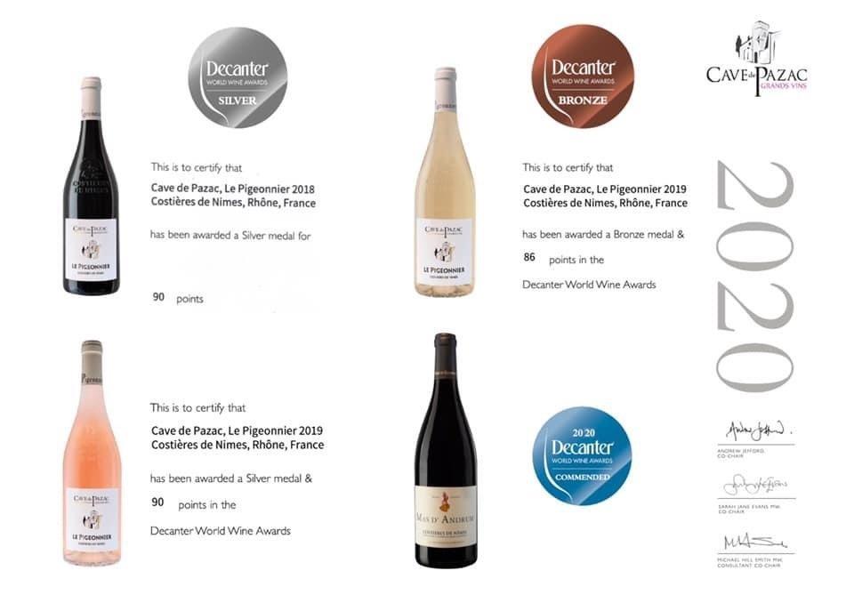 palmares 2020 grand vins pazac